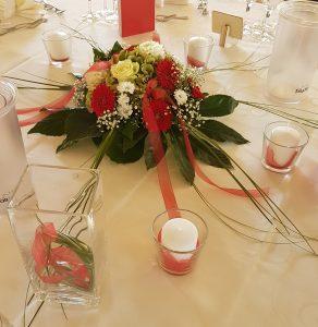 Tischschmuck Rot Weiß