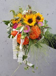 Brautstrauß Sonnenblumen