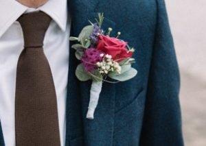 Anstecker Hochzeit Blumen