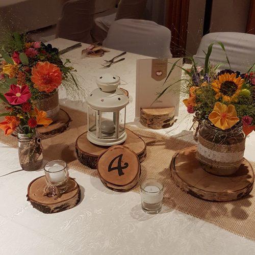 Tischschmuck Sonnenblume