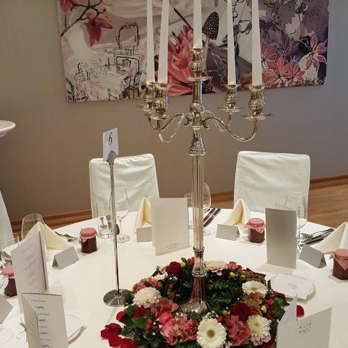 Tischschmuck Rund Kerzenleuchter